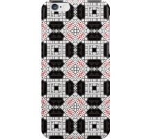 White, Red, Black and Brown Abstract Design iPhone Case/Skin