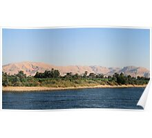 West bank of River Nile towards Esna 4 Poster