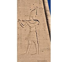 Hieroglyphs at Edfu Temple 3 Photographic Print
