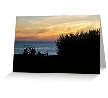 Two Women Watching the Sunset Greeting Card