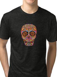 Day of the Dead Sugar Skull shirt Tri-blend T-Shirt