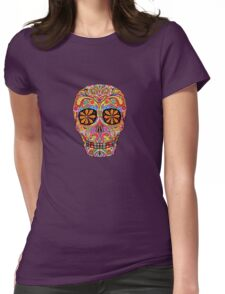 Day of the Dead Sugar Skull shirt Womens Fitted T-Shirt
