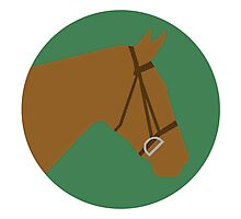 Minimalist Horse → Brown/Green  Photographic Print