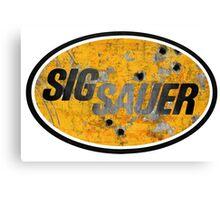 Sig Sauer - Scrap Metal Yellow Canvas Print