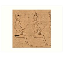 Hieroglyphs at Edfu Temple 4 Art Print