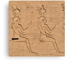 Hieroglyphs at Edfu Temple 4 Canvas Print