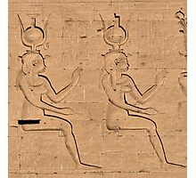 Hieroglyphs at Edfu Temple 4 Photographic Print