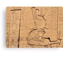 Hieroglyphs at Edfu temple in Egypt Canvas Print