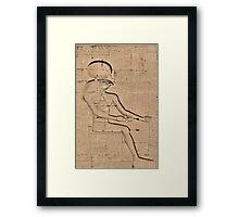 Horus god hieroglyph 2 Framed Print