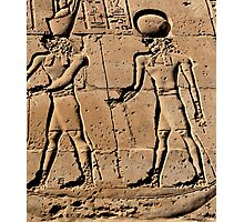 Pharaoh and god hieroglyph Photographic Print