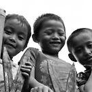 happy three friends by Arkka Sandhya