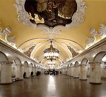 Komsomolskaya Metro Station, Moscow by offwhitedog