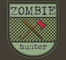 Zombie hunter shield logo by puppaluppa