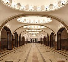 Mayakovskaya Metro Station, Moscow by offwhitedog