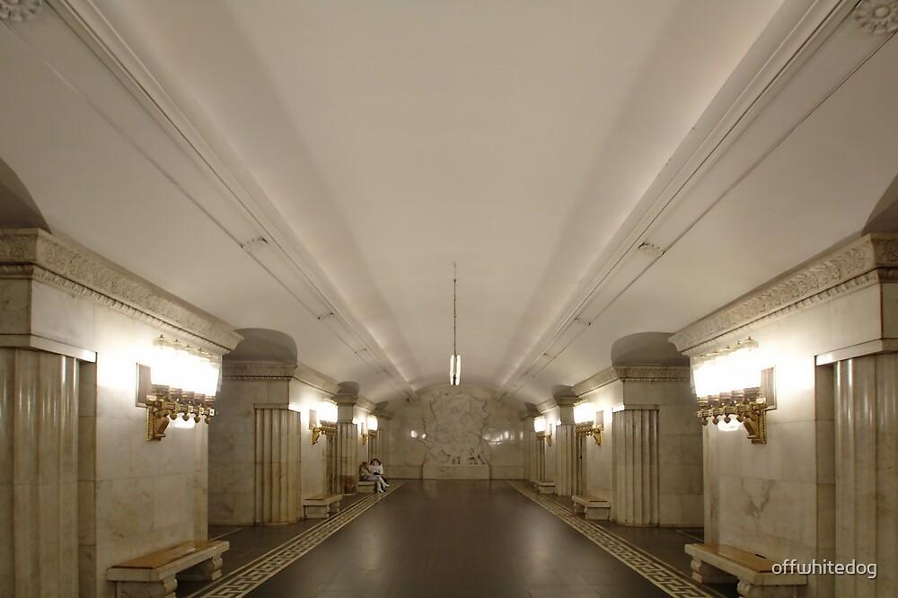 Smolenskaya Metro Station, Moscow by offwhitedog