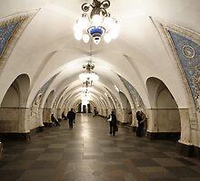 Taganskaya Metro Station, Moscow by offwhitedog