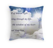 Full Of Heaven's Light Throw Pillow