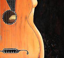 Guitar Nude by Susan van Zyl
