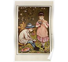 Flowers & Fancies Valentines Ancient & Modern Montgomerie Ranking art Kate Greenaway 1882 0008 Wildflower Collection Poster