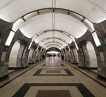 Chkalovskaya Metro Station, Moscow by offwhitedog