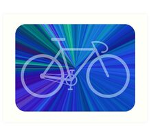 Bike Blue Gradient Art Print