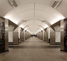 Sretenskiy Bulvar Metro Station, Moscow by offwhitedog
