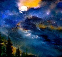 Landscape...Abstract..Moon on the Rise by ©Janis Zroback