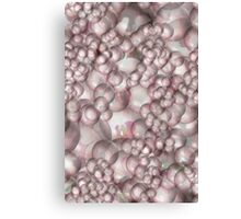 Pink orchid bubble reflections Canvas Print