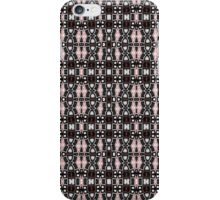 Black, White, Brown and Red Abstract Design iPhone Case/Skin