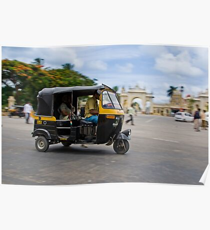 Rickshaw in Motion Poster