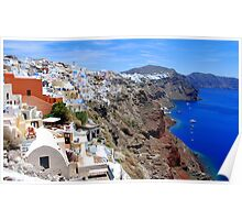 The village of Oia,at Santorini Poster