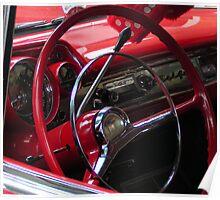 Symphony in Red vintage car Poster