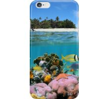 Beach and coral reef iPhone Case/Skin