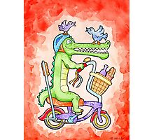 Cruising Croc Photographic Print