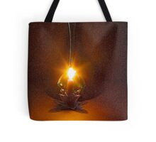 A candle flame and breeze - Fractalius Tote Bag