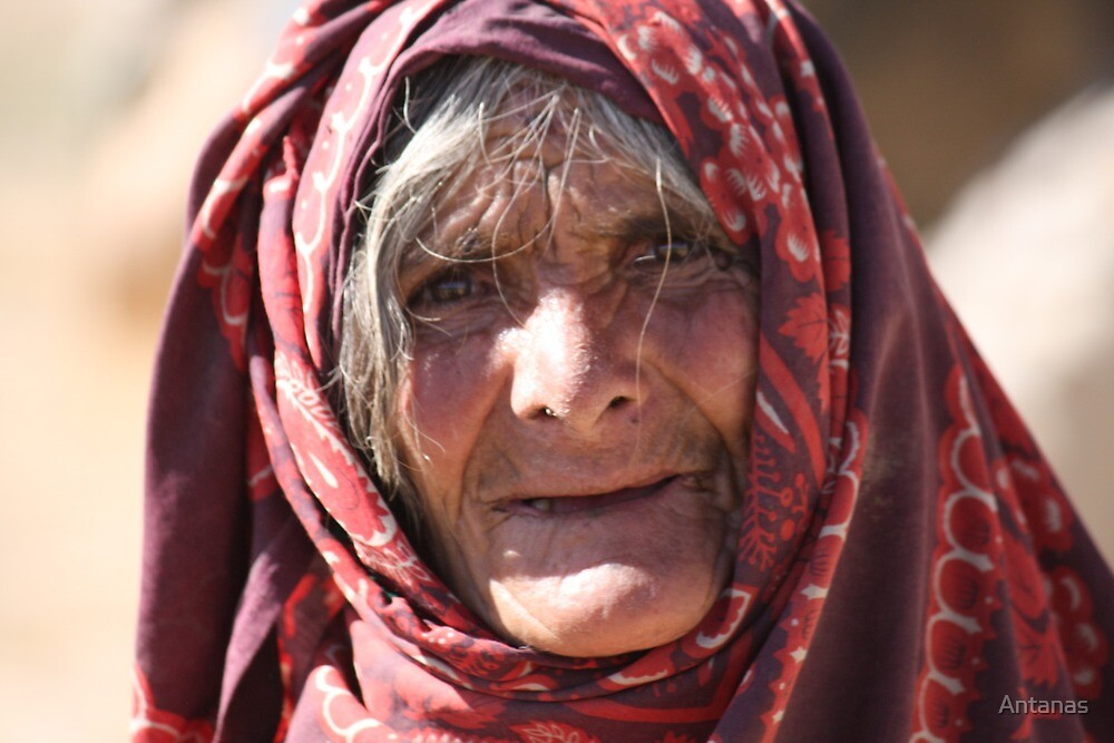Old Woman (afghanistan) by Antanas