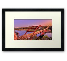 Austins 360 Bridge at Dusk Framed Print