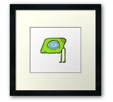 Funny Alien Monster Character Framed Print