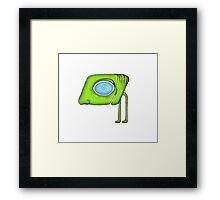 Funny Alien Monster Character Framed Print