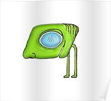 Funny Alien Monster Character Poster