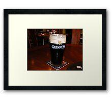 GLASS OF GUINESS Framed Print