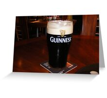 GLASS OF GUINESS Greeting Card