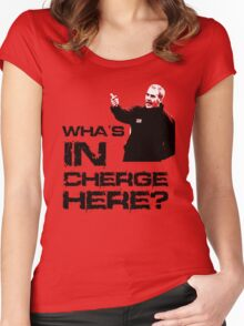 Wha's in cherge here? Women's Fitted Scoop T-Shirt