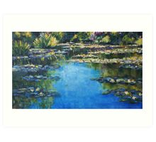 Reflections & Lilies, Giverny Art Print