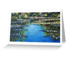 Reflections & Lilies, Giverny Greeting Card