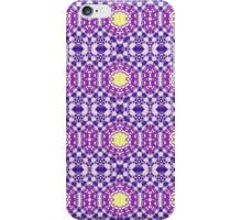 Purple, Blue and Yellow Abstract Design Pattern iPhone Case/Skin