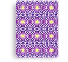 Purple, Blue and Yellow Abstract Design Pattern Canvas Print
