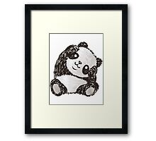 Cute Panda Framed Print