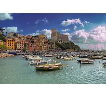 Lerici - The Bay and the Castle Photographic Print