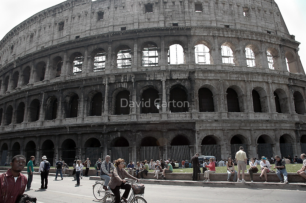 Tourists at the Colosseum, Rome, Italy by buttonpresser